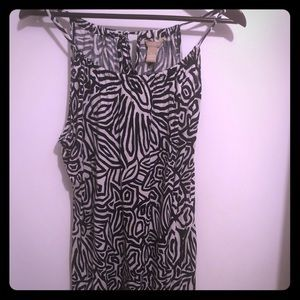 Banana Republic tie neck halter top